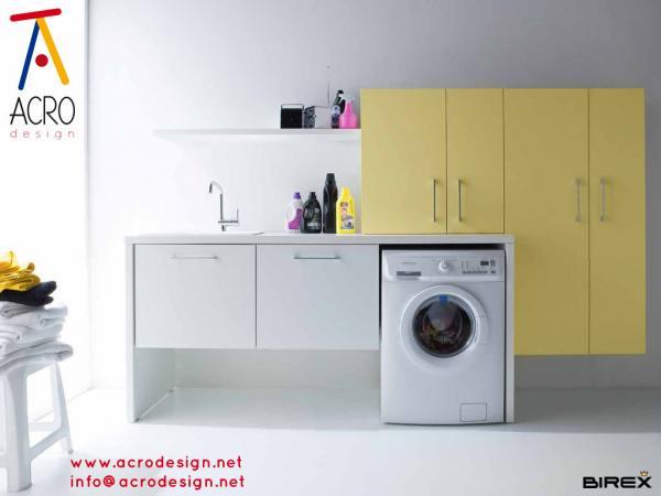 Mobile lavanderia, arredo lavanderia, mobile porta biancheria ...