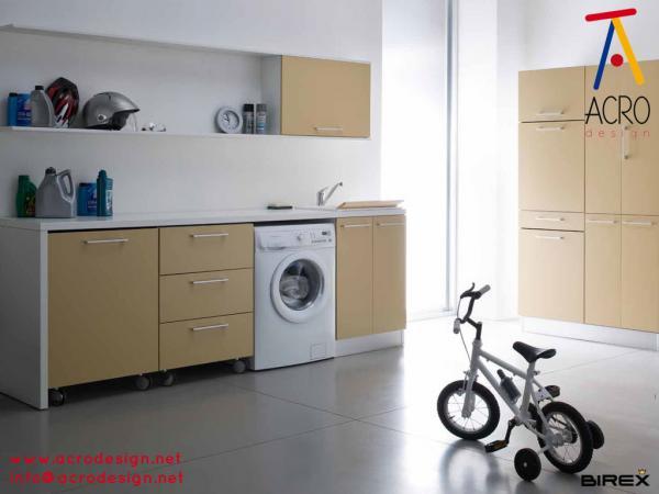 Mobile lavanderia arredo lavanderia mobile porta biancheria mobile lavatrice asciugatrice - Mobile incasso lavatrice ...