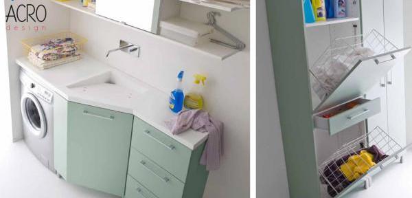 Onza | Mobile lavanderia, arredo lavanderia, mobile porta biancheria ...