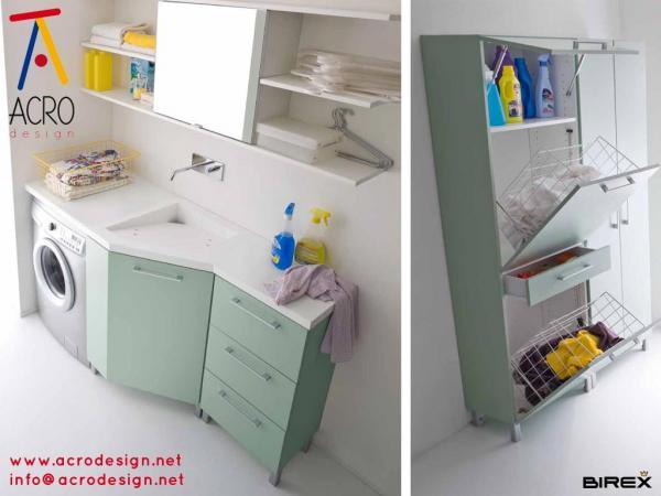 Mobile lavanderia arredo lavanderia mobile porta - Mobile bagno con portalavatrice ...