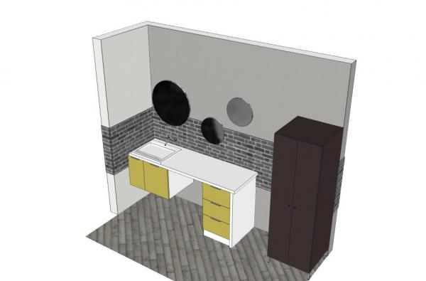 Mobile lavanderia arredo lavanderia mobile porta - Mobile bagno con lavatrice incassata ...